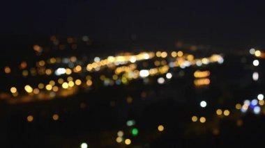 Noc miasto (miękkie niewyraźne) — Wideo stockowe