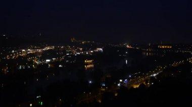 Night city - Prague, Czech Republic — Stock Video