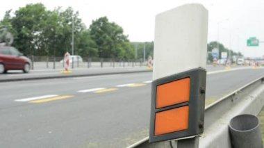 Highway - restriction (roadwork) — Stock Video