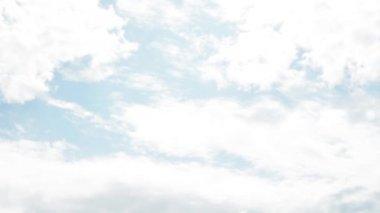 Panorama de ciel nuageux — Vidéo