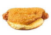 Close-up van gebakken donut — Stockfoto