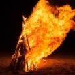 Pyre burning on the beach — Stock Photo #45746563