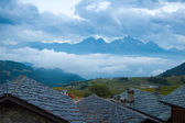 Evening in a high altitude village — Stock Photo