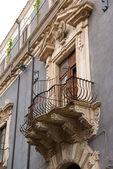 Baroque balcony in Catania — Stock Photo