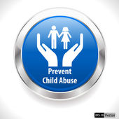 Child abuse harassment awareness badge, prevent child abuse — Stock Vector