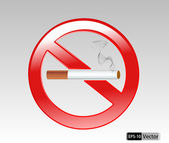 No smoking sign vector Illustration on white background — Stock Vector