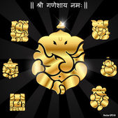 Indian god ganesha, Ganesh idol- vector eps10 — Stock Vector