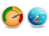 Performance meter — Stock Vector