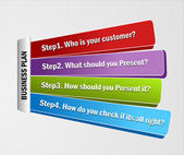 Vector Template of steps for business presentation — Stockvector