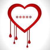 Heartbleed openssl bug virus bleeding heart - vector eps10 — Stock Vector