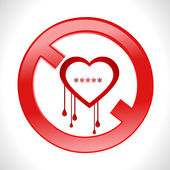 Heart bleed openssl bug virus bleeding heart restricted- vector eps10 — Stock Vector