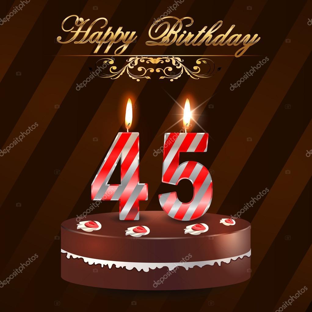 Поздравление с днем рождение женщине на 45 лет