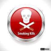 No Smoking sign icon. Quit smoking. Cigarette symbol. — Vecteur