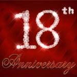 18 Year Happy Birthday Card, 18th birthday - vector EPS10 — Stock Vector #51149871