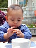 九个月大的男婴 — 图库照片