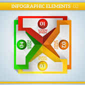 Infographic elements in flat colors. — Stockvector
