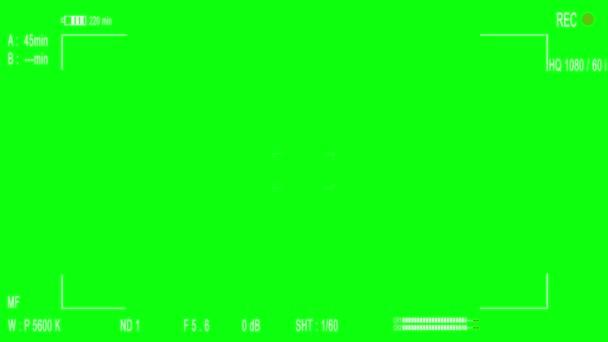 Visor de registro de cámara — Vídeo de stock