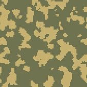 Russian frontier guard green seamless camo — Stock Photo