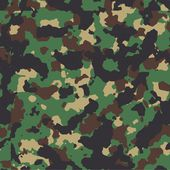 Classic woodland seamless vector camo pattern — Stock Vector