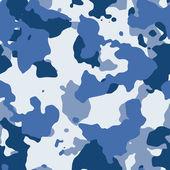 Blue vector seamless camo — Stock Vector