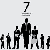 Businessman Silhouettes — Stock Vector
