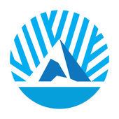 Abstract ice peak icon — Vector de stock
