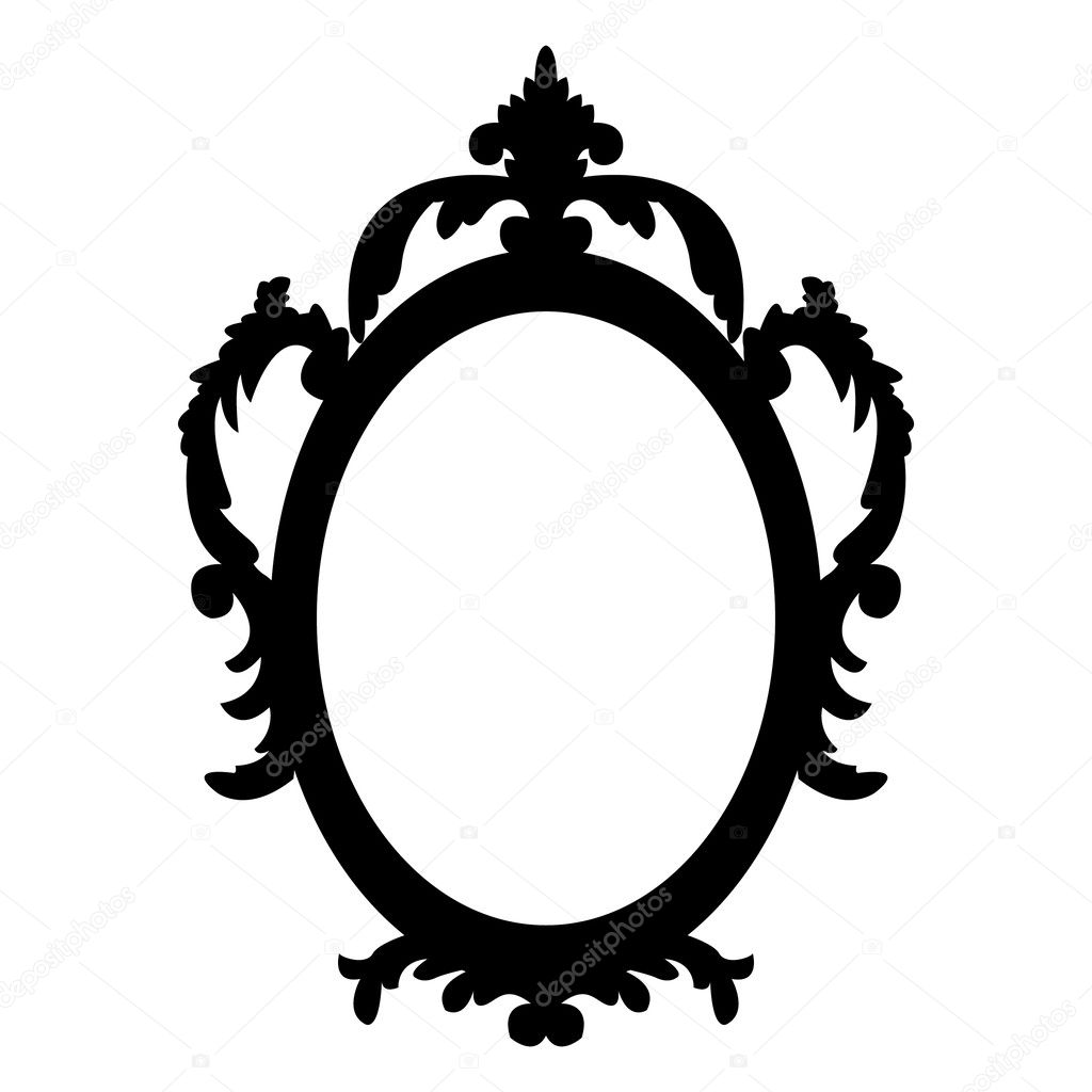 Oval Mirror Vector Clip Art Make Up In