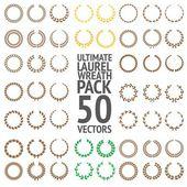 Ultimate Laurel Wreath Pack 50 Vectors — Stock Vector