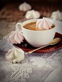 Cup of coffee with — Stock Photo