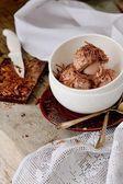 Fresh chocolate ice cream — Stock Photo