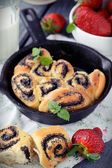 Buns with poppy seeds — Stock Photo