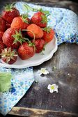 Strawberry in a Bowl — Stock Photo