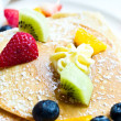Fresh fruit pancakes. — Stock Photo