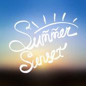 Summer sunset blurred background. — Stock Vector
