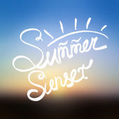 Summer sunset blurred background. — 图库矢量图片