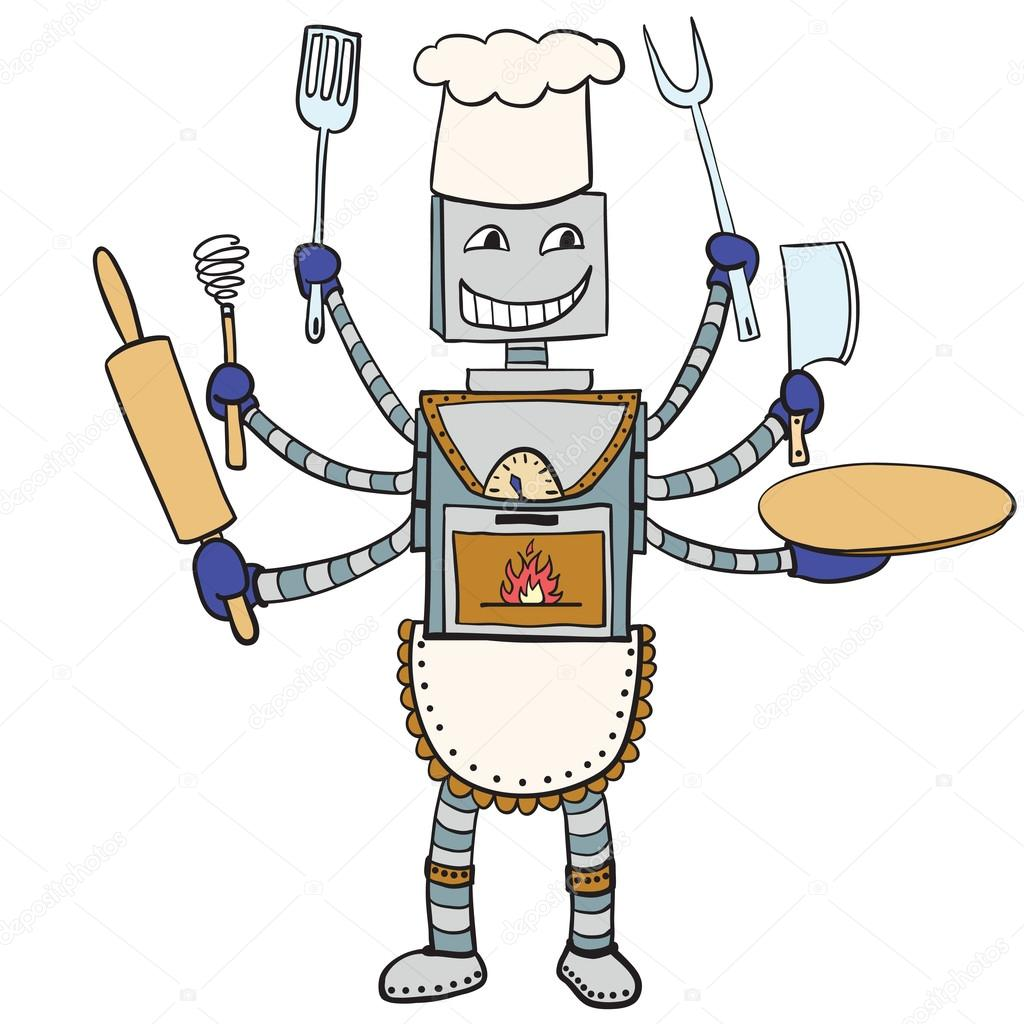 Рисунки робот помощник