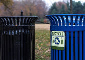 Recycle cans National Mall — Stock Photo