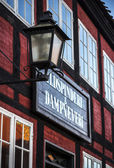 Lantern front store old part Aarhus Denmark — Stock Photo