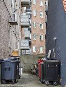 Garbage in backyard — Stock Photo