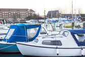 Boats in harbour — Foto Stock