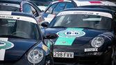 Six to six race Porsche — Foto Stock