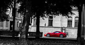 Red Ferrari 599 GTB sportscar — Stok fotoğraf