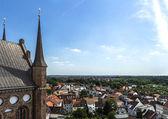 Saint Nicholas view platform panorama Wismar — Stock Photo