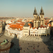 Panorama of Old Town square in Prague from height — Stock Photo #44725831