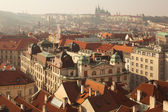 Panoramic view from Old Town square in Prague from height — Foto de Stock