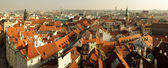 Panorama of Old Town square in Prague from height — Photo