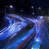 Gece şehir trafik — Stok fotoğraf