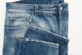 Blue aged jeans — ストック写真