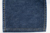 Jeans Denim Texture and Stitches — Stock Photo