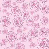 Vector cute pink floral seamless pattern — Stock Vector